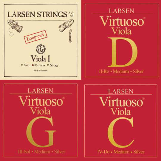 LARSEN Virtuso Juego Viola con cuerda- La Lazo, medio