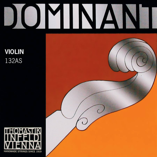 THOMASTIK Dominant Violín Cuerda-Re Plata, fuerte
