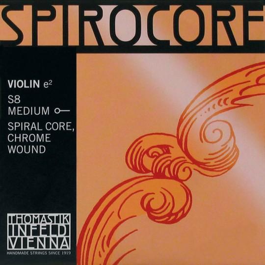 THOMASTIK Spirocore Violín Cuerda-Mi Cromo, Bola