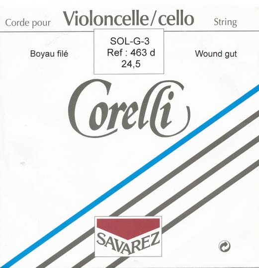 CORELLI Tripa Chelo Cuerda-Sol 24 1/2 Plata/Wolframio