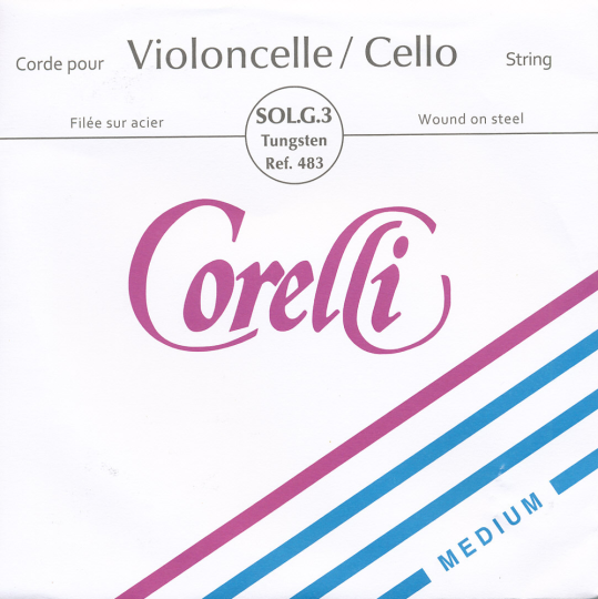 CORELLI Acero Chelo Cuerda-Sol Plata/Wolframio, medio