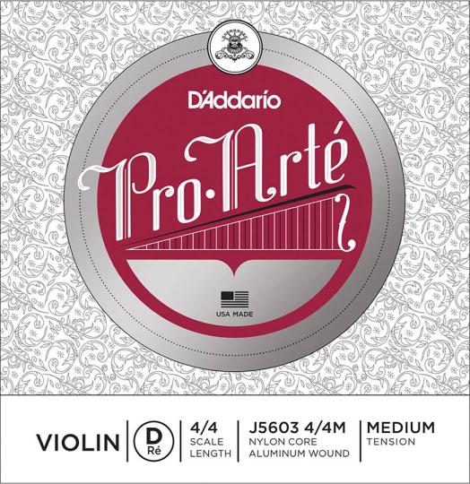 D´ADDARIO ProArté Violín Cuerda-Re medio