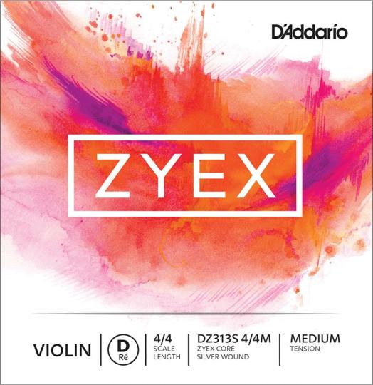 D´ADDARIO Zyex Violín Cuerda-Re Plata, medio