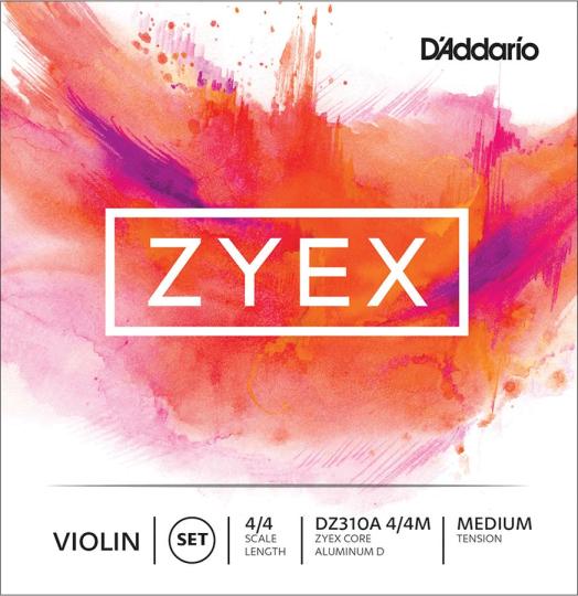 D´ADDARIO Zyex Juego Violín Cuerda-Re Alu