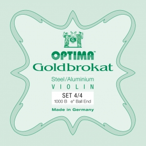 LENZNER-Optima Goldbrokat juego cuerdas para Violín 3/4