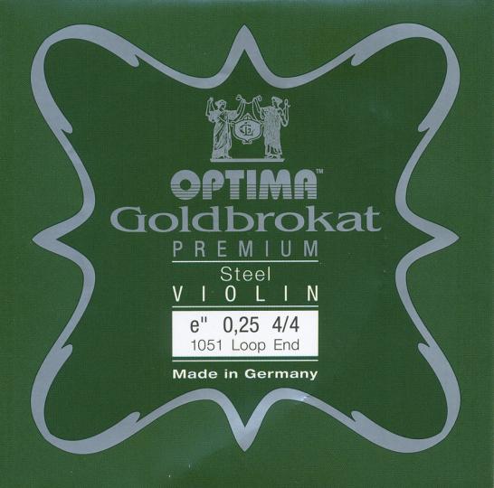 Optima Goldbrokat Premium Violin Cuerda-Mi Lazo 26