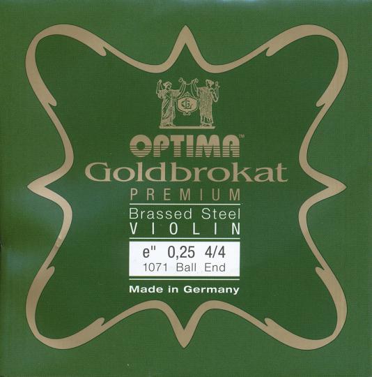 Optima orobrokat Premium Brassed Violin Cuerda-Mi Bola