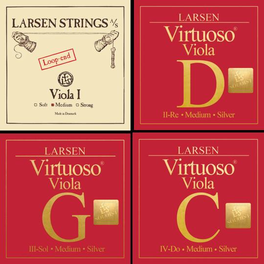 LARSEN Virtuoso Solista Juego Violín, Cuerda-La Lazo