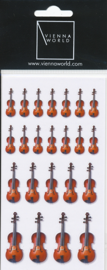 Pegatina violín