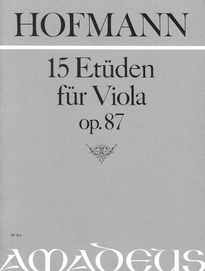 Hofmann, 15 Etüden für Viola op. 87