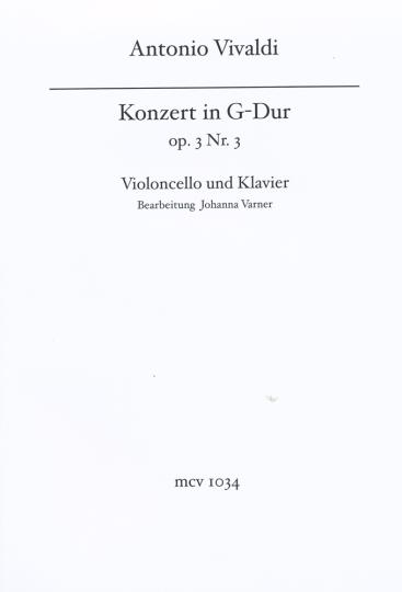 Vivaldi Konzert für Cello G-dur