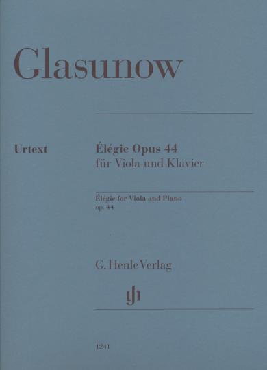 Glasunow, Élégie Opus 44