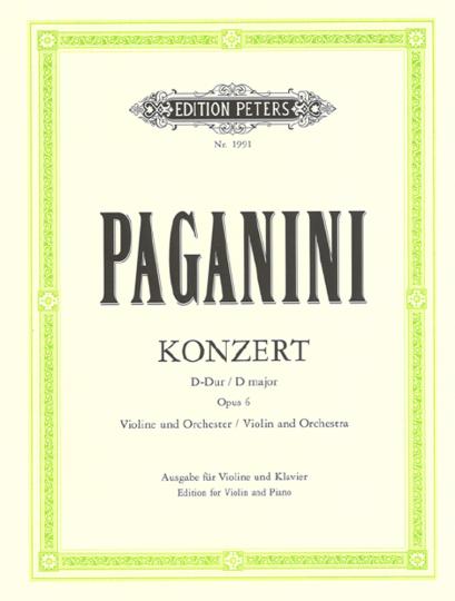 N. Paganini, Konzert Nr. 1 D-Dur, op. 6