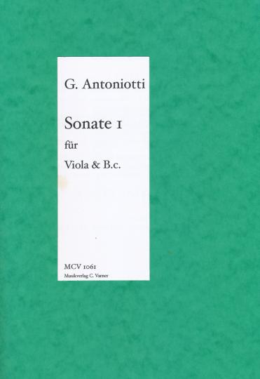 Giorgio Antoniotti, 1.Sonate für Viola und Klavier