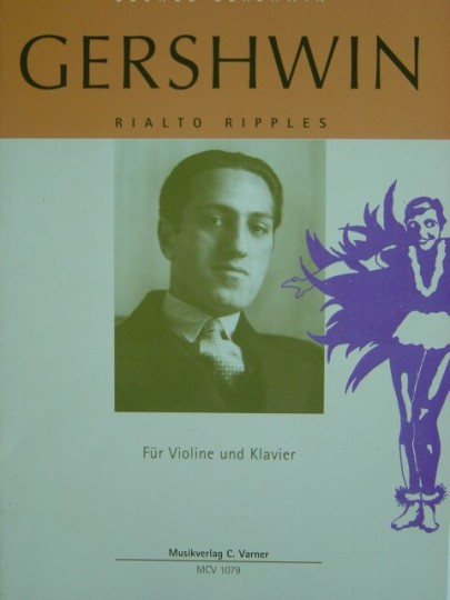 Noten George Gershwin, Rialto Ripples für Violine u. Klavier