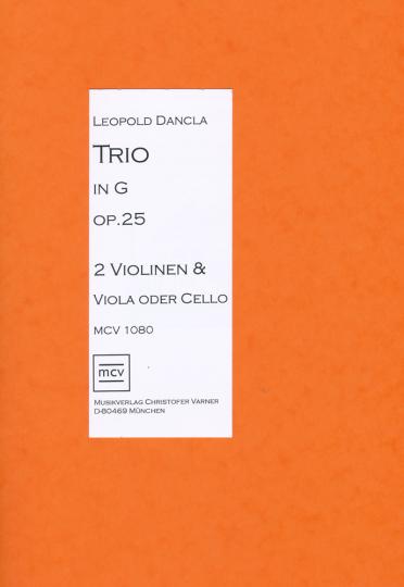 Noten Leopold Dancla, Trio in G op. 25 für 2 Violinen,Viola u. Cello