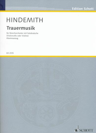 Hindemith, Trauermusik