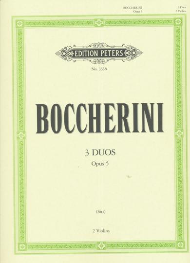 Boccherini, 3 Duos, Opus 5, 2 Violinen