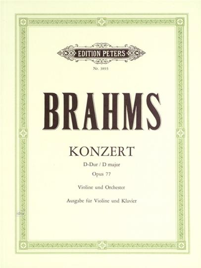 Johannes Brahms Konzert D-Dur op. 77 für Violine und Orchester