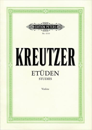 Kreutzer, Etüden Violín