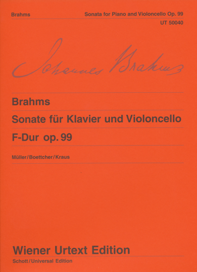 Johannes Brahms Sonate op.99
