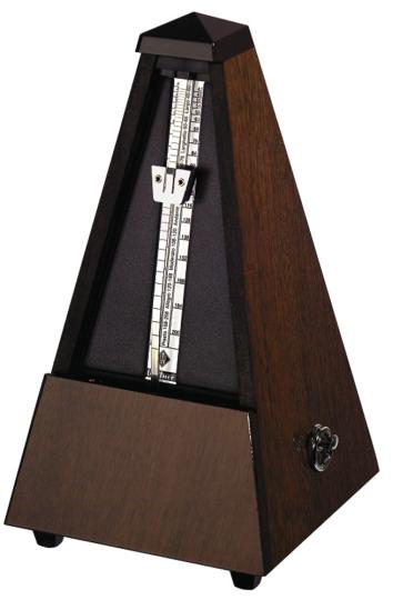 Wittner Metrónomo Pirámide, nogal pulido