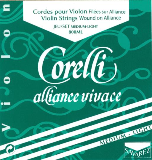 CORELLI Alliance Juego Violín con Cuerda-Mi Lazo suave