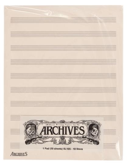 Manuscrito notas con 10 Penagramas - 50 hojas