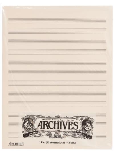 Manuscrito notas con 12 Penagramas - 50 hojas