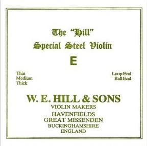 THE Original Hill Violín Cuerda-Mi lazo, medio